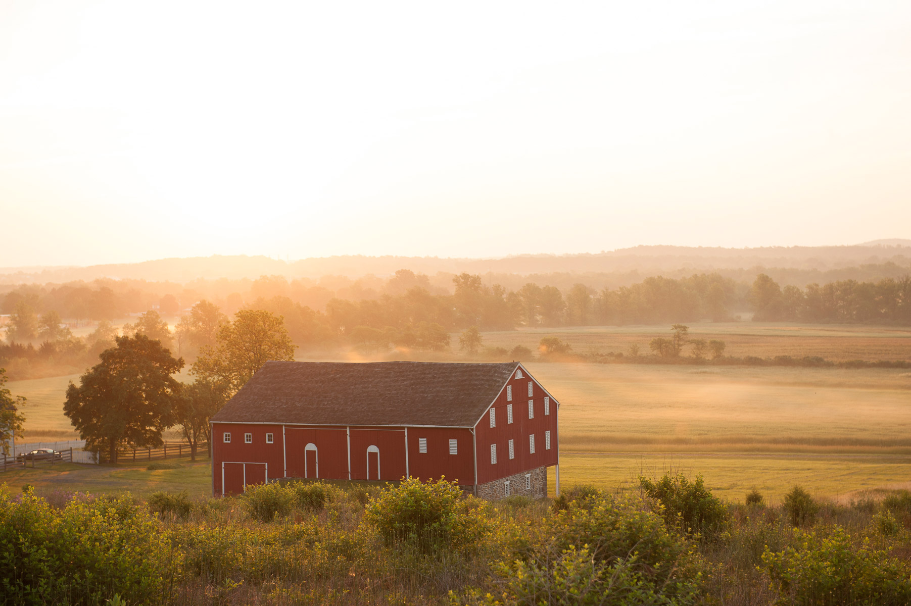 The rural landscape looks very similar to what it was like in 1863. This was taken near the observation tower, which is part of the 24-mile long auto tour that wind through the Gettysburg National Military Park in Pennsylvania. May 31, 2013. VANESSA VICK FOR THE NEW YORK TIMES