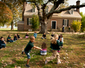 Children from Fredericksburg Christian School visit George Washington's Birthplace National Monument in Colonial, Virginia. There is a 1930's reproduction of the original house at the site which burned down in 1792. October 25, 2012. Vanessa Vick for The New York Times