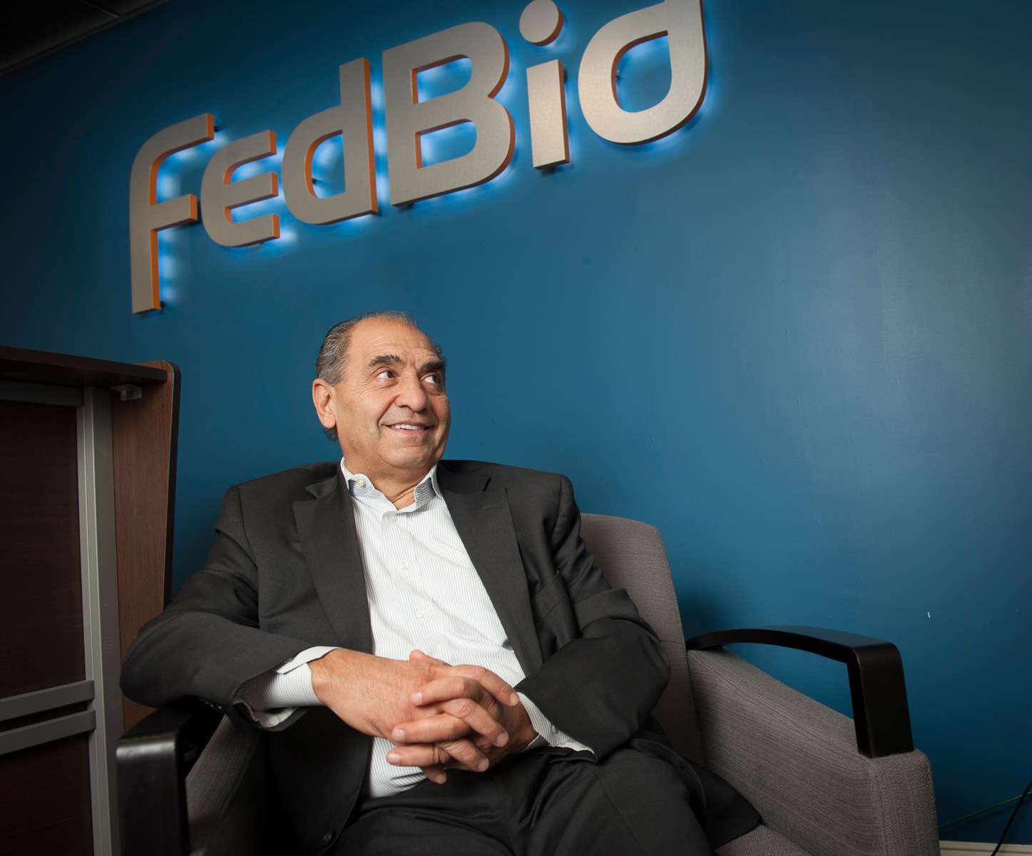 Vienna, VA – February 26, 2014: Portrait of Ali Saadat at FedBid a company that specializes in reverse auctions for construction contracts by the federal government. Contractors bid down and the government accepts the lowest bid. CREDIT: Vanessa Vick for The New York Times