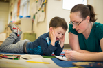 Montessori students at Green Hedges School in Vienna,VA. January 12, 2016. ©Vanessa Vick