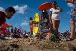 New Yorkers enjoying the sun at Orchard Beach in the Bronx on Tuesday, July 26, 2016.  Michael Appleton/Mayoral Photography Office