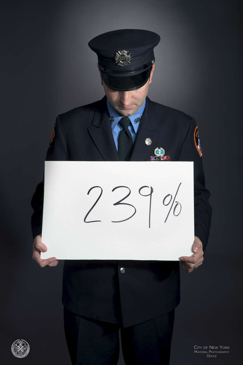239: percent more likely than the rest of the population 9/11 responders will be diagnosed with thyroid cancer{quote}My last day of fire academy was 9/10/01. I was just 21 years old. On 9/11/01, on my way to help at ground zero, a priest read me my last rites as I pulled the tags off my brand new gear.{quote} - Rob Serra, retired fire fighter