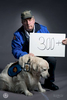 300+: dogs worked at ground zeroFrank Shane spent 9 months working at ground zero with Nikie, a crisis intervention dog.Frank, photographed with Chance, continues to work with crisis dogs. He now suffers from respiratory issues.