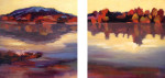 12x12{quote} diptych, oil on canvas© S'zanne ReynoldsPrivate Collection in Boston, MABehind a restaurant in Kerrville, Texas I discovered a lovely view along the Guadalupe River, one of the many gems in the Texas Hill Country.