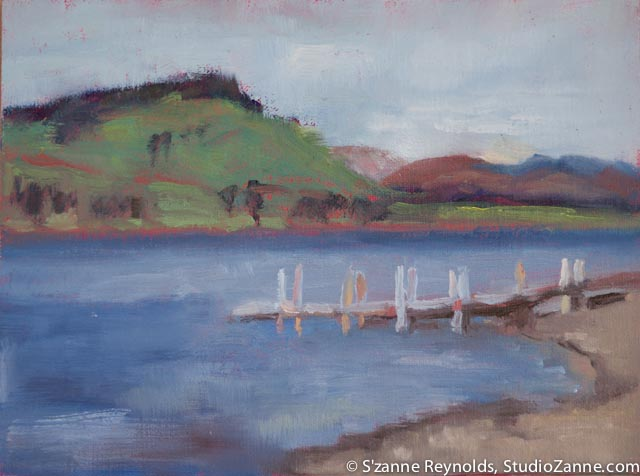 6x8{quote} oil, plein air© S'zanne ReynoldsLake Hebgen, MTGallatin National Forest