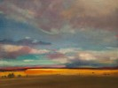 9x12{quote} oil© S'zanne ReynoldsThe dramatic skies and falling sunlight over the painted desert of Arizona on the way to the Grand Canyon.