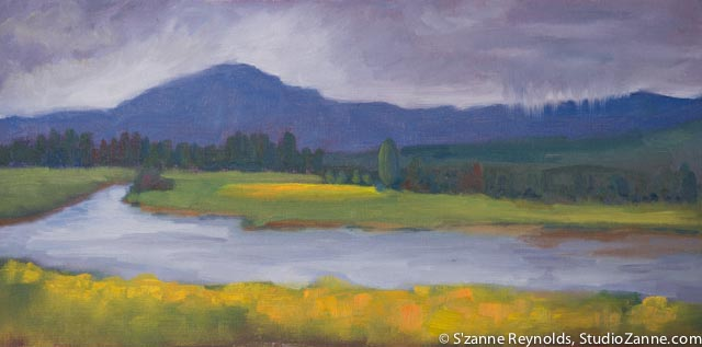 8x16{quote} oil, plein airHenry's Fork in Idaho© S'zanne ReynoldsHenry's Fork Foundation