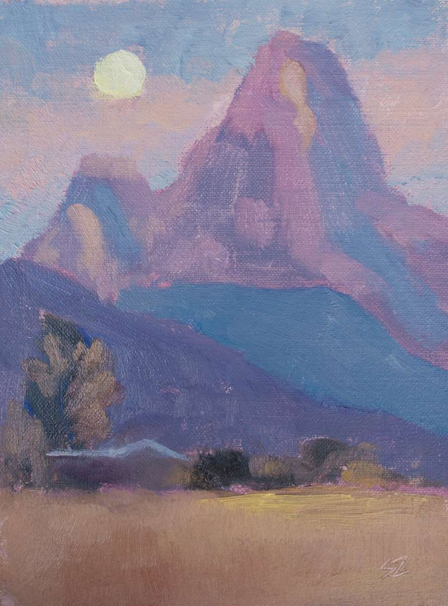 8x6{quote} oil, plein airIdaho Tetons© S'zanne ReynoldsThis piece placed Third Place in Driggs DigsGrand Teton National Park