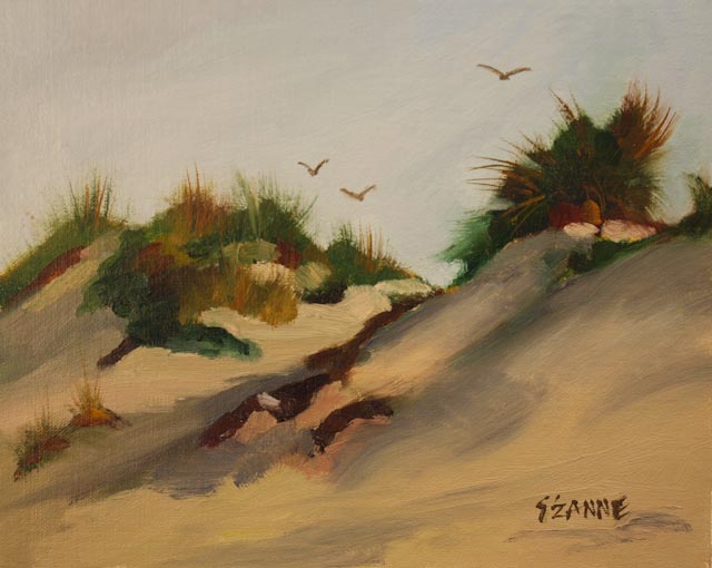 "8 x 10"" oil © S'zanne ReynoldsPrivate Collection in Boulder, ColoradoI have many sweet childhood memories of chasing sandcrabs on the shoreline and in the dunes here in Nags Head, NC."
