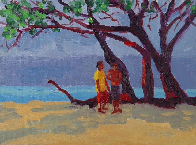 9 x 12{quote} oil on linenBaldwin Beach, Maui© S'zanne Reynolds, {quote}The artist formerly known as Holly Trapp{quote}Private Collection in Austin, TXPrivate Collection, Austin, TX