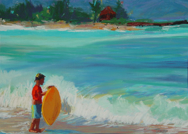 9 x 12{quote} pastelBaldwin Beach, Maui© S'zanne Reynolds {quote}The artist formerly known as Holly Trapp{quote}Private Collection in Austin,Texas