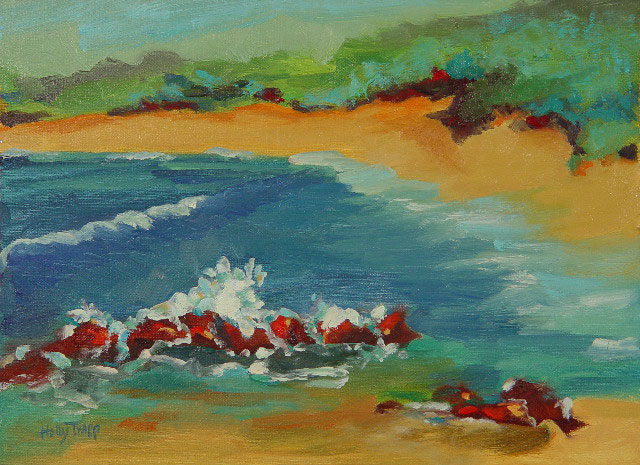9 x 12{quote} oil on linenNapili Bay, Maui© S'zanne Reynolds, {quote}The artist formerly known as Holly Trapp{quote}Private Collection in Austin, TXPrivate Collection, Austin, TX