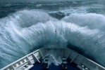 Antarctica storm in the Drake Passage.
