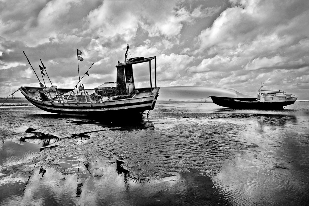 Fishing boats at low tideJericoacoara, Brazil