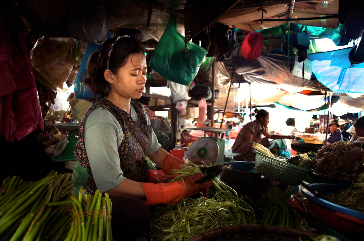 Open Market in central Phnom Penh.