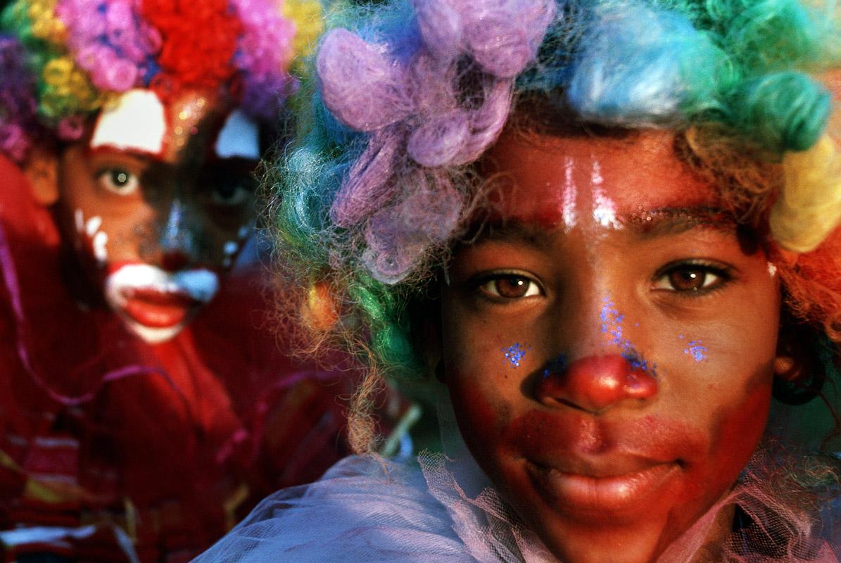 Kids dressed up for carnaval.