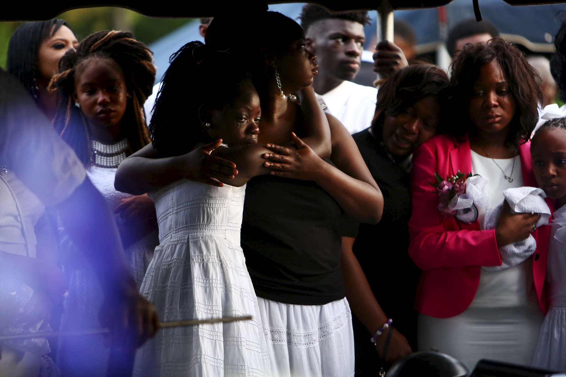 NAT ***Charleston, SC -- 06/27/2015 - A joint funeral service for Tywanza Sanders and his aunt Susie Jackson was held at Emanuel AME church in Charleston on Saturday, followed by a burial at the church cemetery.(Travis Dove for The New York Times)