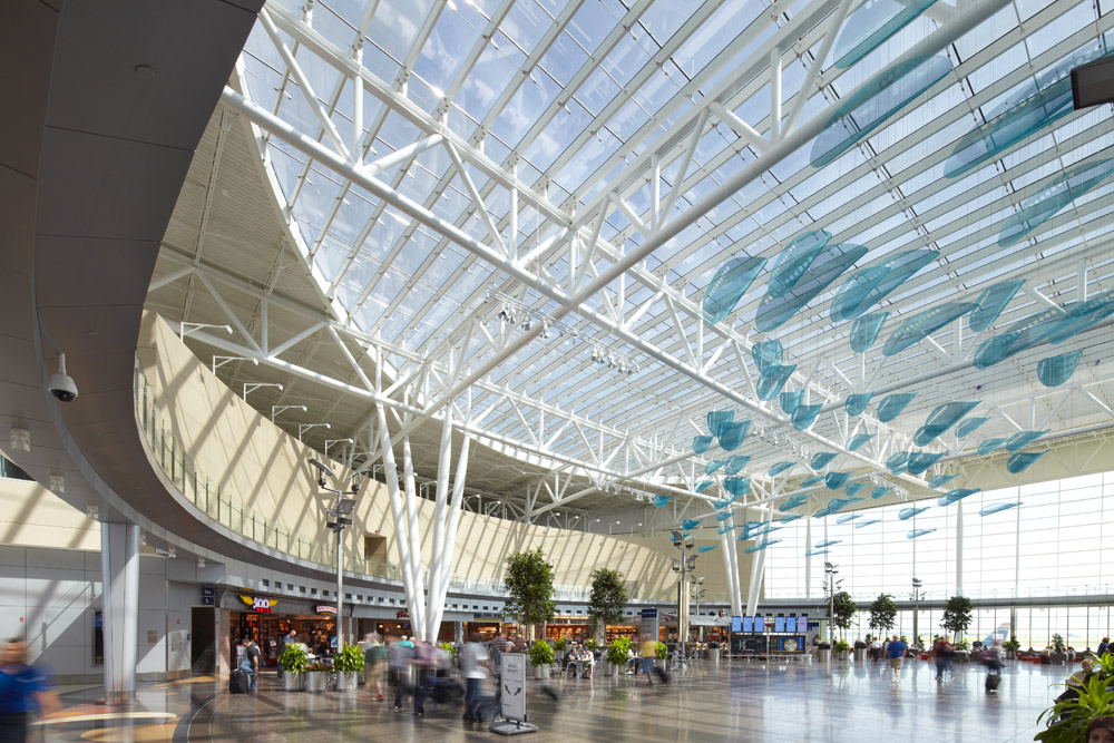 architectural photographer Dana Hoff photograph of Indianapolis Airport