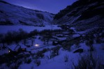 Shot on assignment for NATIONAL GEOGRAPHIC Magazine. Winter evening chores by lantern light at the Stowell family homestead Ranch in the Bruneau River Canyon near Jarbridge, Nevada.