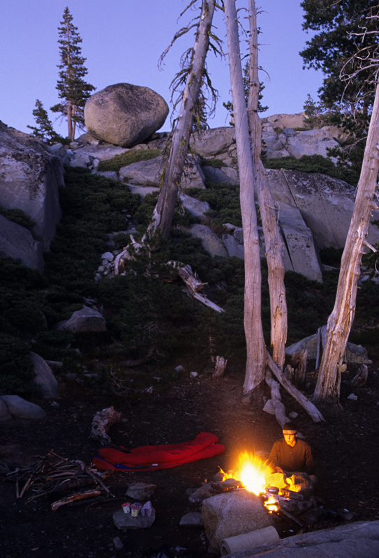 Backpacker, Five Lakes Basin, California