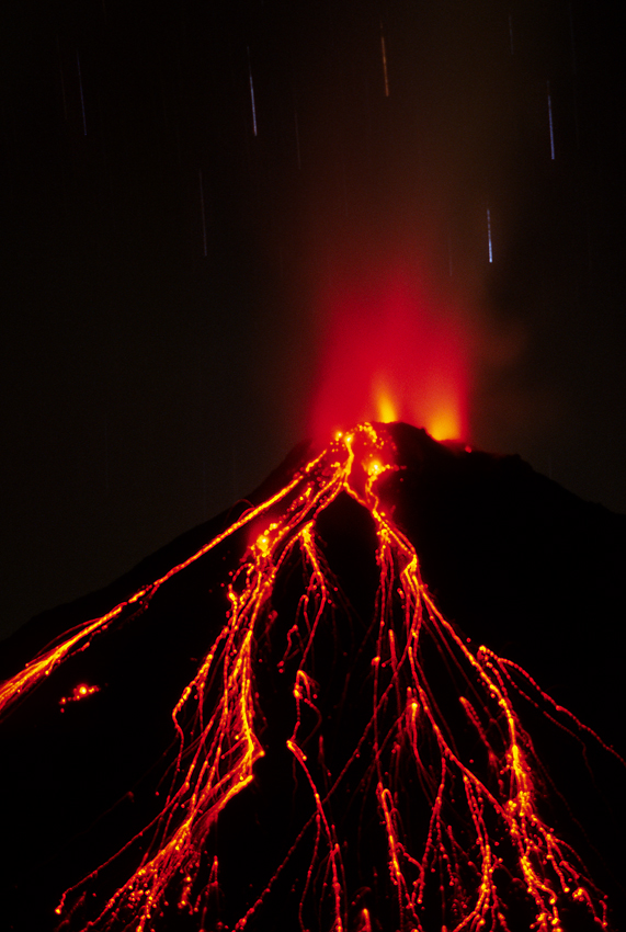 Volcan Arenal long exposure, Costa Rica
