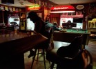 Saturday afternoon at the Corner's Bar. Moskowite Corners, California