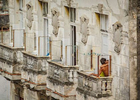 Lovers stealing a moment. Havana, Cuba