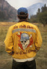 A firefighter's custom jacket says it all. Bitterroot National Forest, western Montana