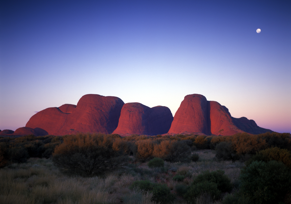 <b>ODD ROCKS</b>Rising over 1,400 feet from the surrounding plain, Kata Tjuta, or