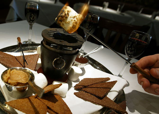 Smores, a desert specialty at Market, a bistro in St. Helena, California.
