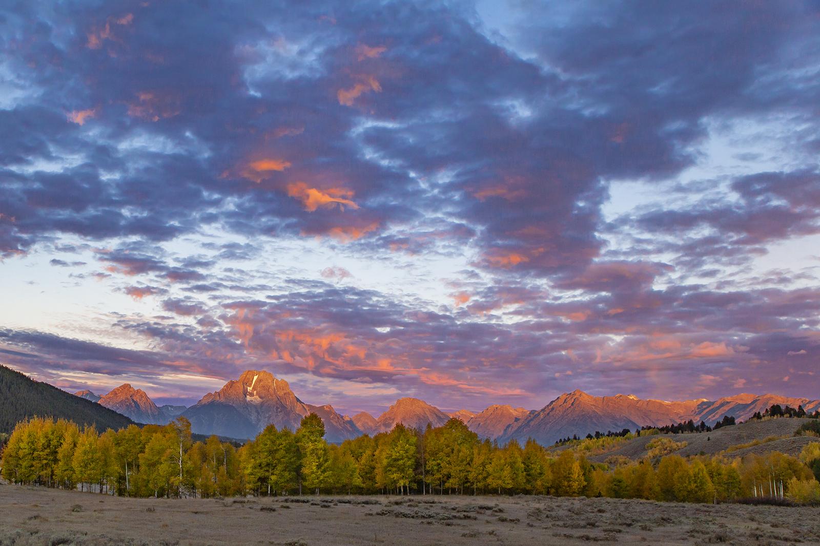 Sunrise on Mt. Moran, Grand Teton National Park (Composite Image)