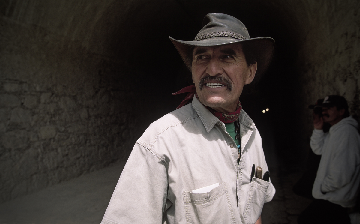 Tunnel man. San Luis Potosi, Mexico