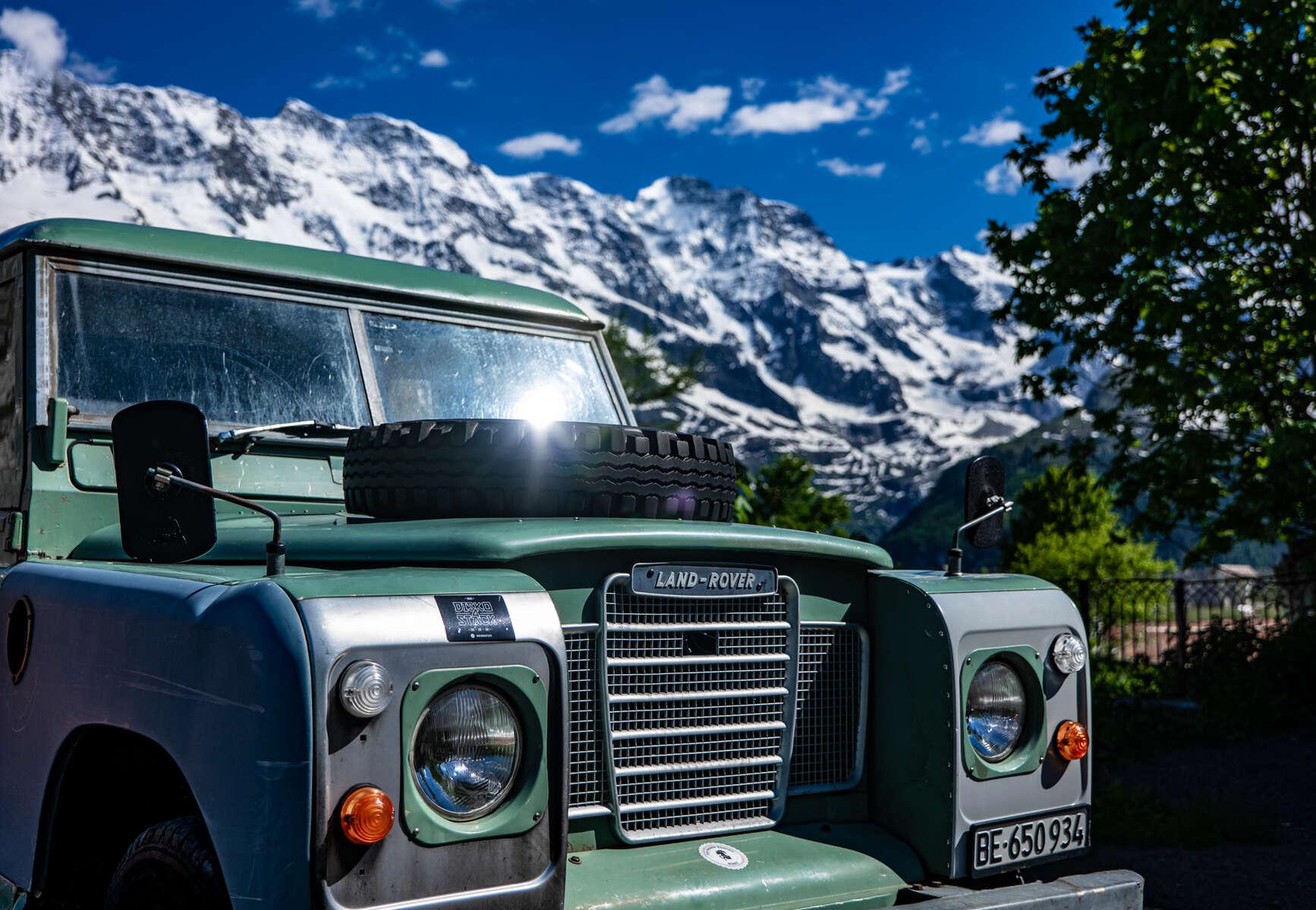 Old Land Rover, Murren, Switzerland