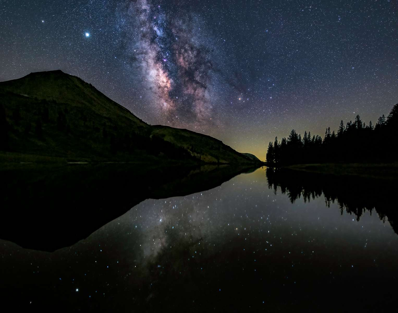 Upper Highland Lake, Sierra Nevada, California (Stacked Image)