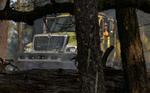 A BLM engine crew patrols a prescribed fire in Trinity County, California.