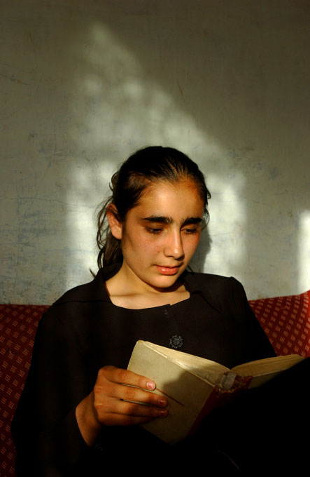 Farzana Wahidy, 19, Photojournalist for AFP, at her home in Kabul, Afghanistan