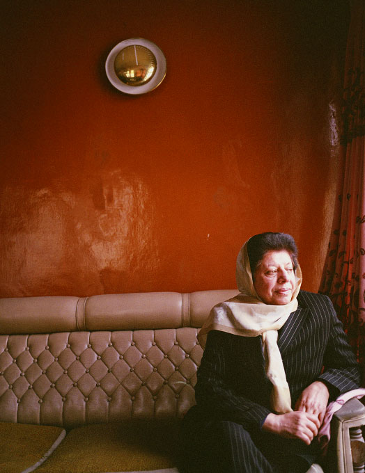 Suraya Parlika, Head of the All Afghan Womens' Union at her office in Kabul, Afghanistan on April 10, 2005. Suraya has had her life threatened on several occasions but continues to work for Afghan women's rights with all her energy. In October, 2005 Suraya ran for the Afghan parliamentary elections.