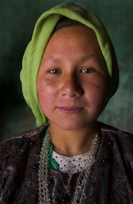 Beekeeper's daughter in Bamiyan, Afghanisan