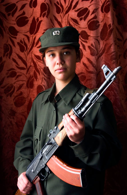 Naheed Mirza,17, assistant to the Police Commander of the Afghan National Police in Kabul, Afghanistan.