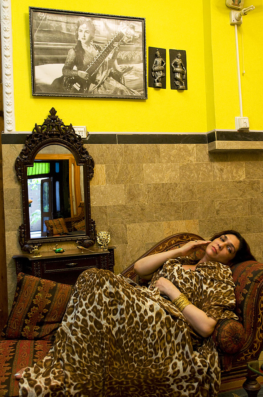 Bobby, the {quote}guru{quote} or head eunuch in Rawalpindi at her home in Pakistan.
