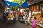 Daily street scene in Rishakesh, India