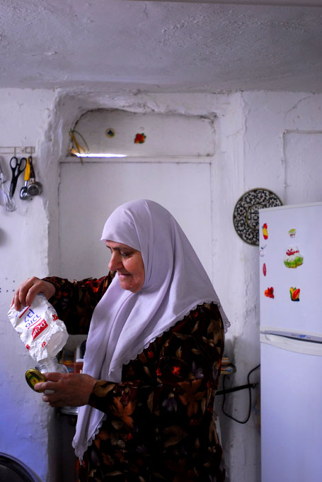 Palestinian woman at her home in Jerusalem