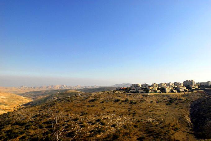 Landscape view of Maale Adumim, an Israeli settlement nearby Jerusalem.
