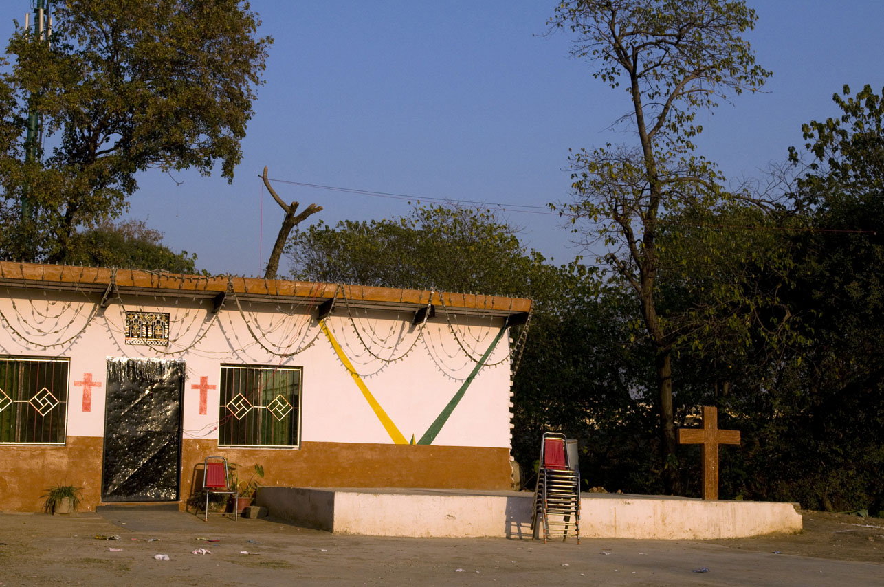 Christian church outside the France Christian Colony in Islamabad, Pakistan.