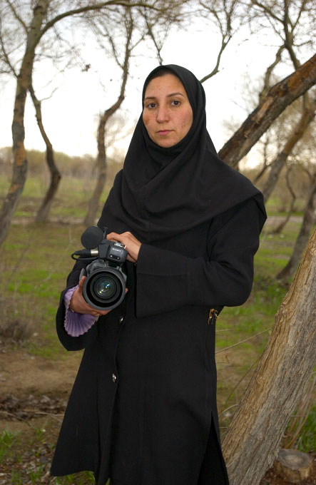 haima Rahmany, Afghan Independent Film Maker, in Herat, Afghanistan on March 16, 2005. Shaima is presently making a film about a young Afghan girl who is forced into marriage with a 50 year old man. Photographed on the film set
