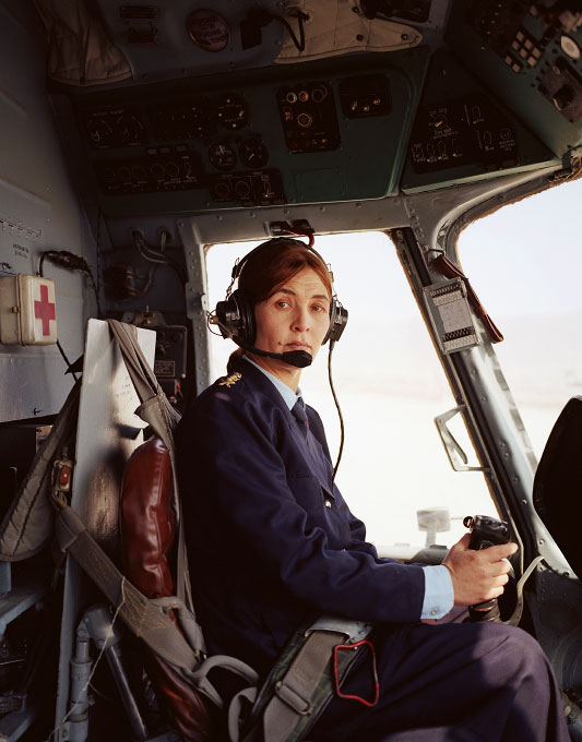 Lailama, Afghan Army helicopter pilot, photographed in one of the Afghan Army helicopters at Kabul International Airport.