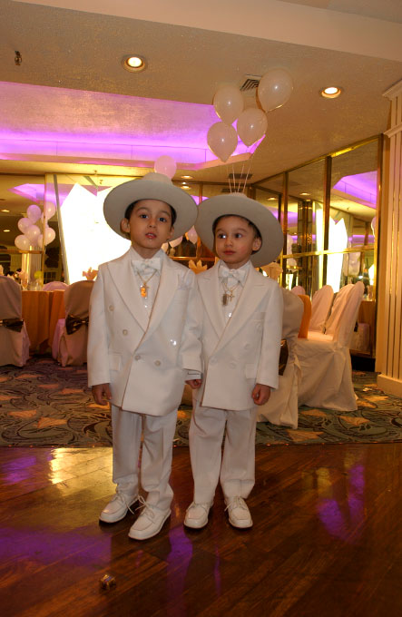 American Gypsy twins at their baptism party in Queens, N.Y.