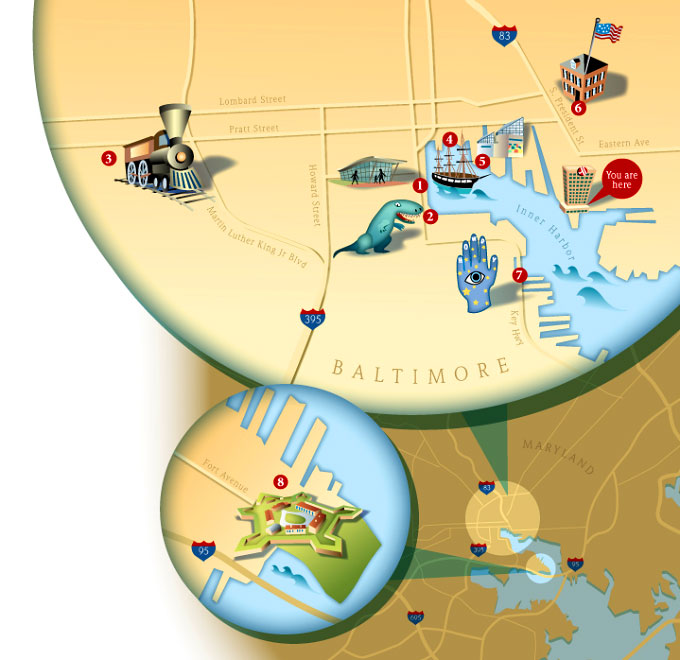 Maps Update 21051488 Baltimore Tourist Map