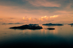 Peng Chau Island at sunset.