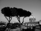 View over Rome near the Piazza del Campidoglio.